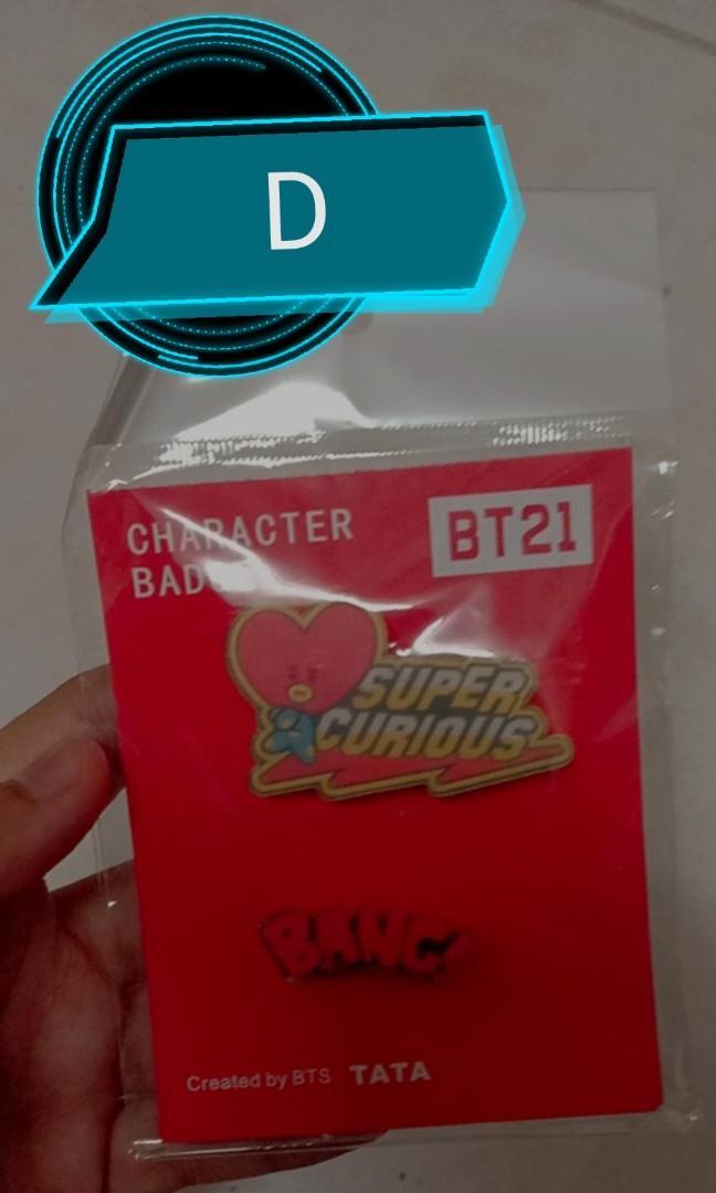 2Pcs/Set BT21 Character Enamel Acrylic Badge/Brooch Pin For, Souvenir/Gift
