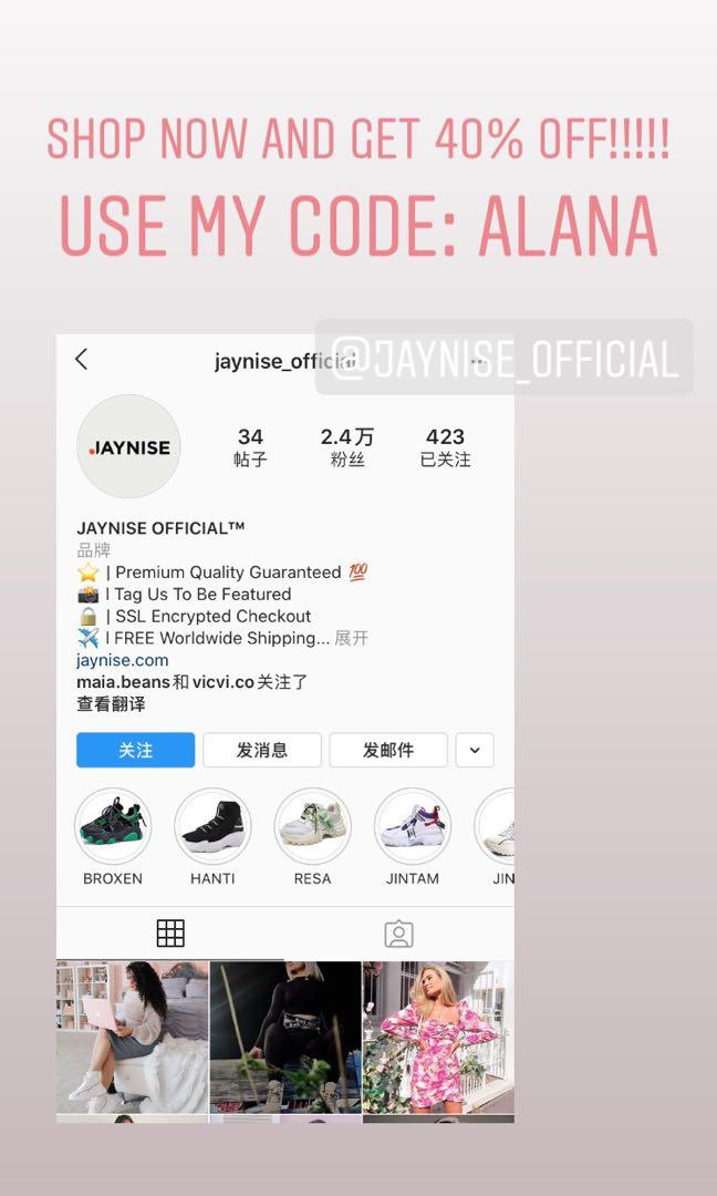 40% off JAYNISE