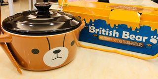 英國熊5.5吋造型附蓋碗匙