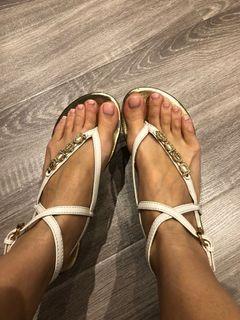 Bebe gladiator wrap sandals