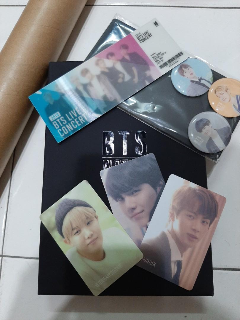 BTS WORLD OST LENTICULAR  POSTER  JIN, SUGA, J-HOPE MAGNET AND DUAL SIDED PHOTOCARDS