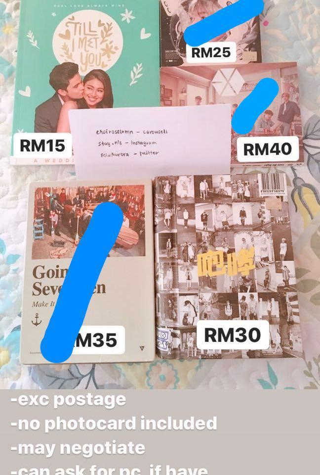 REFER TO NEWEST LISTINGS !! kpop album and photobook sale!
