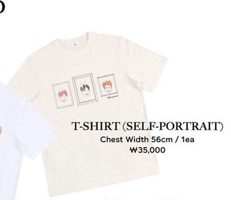 Suho Fanmeeting O2asis Official Goods ( TSHIRT SELF PORTRAIT)