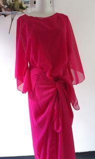 Dress kondangan pink keunguan