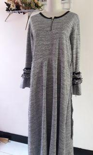 Dress/gamis abu-abu