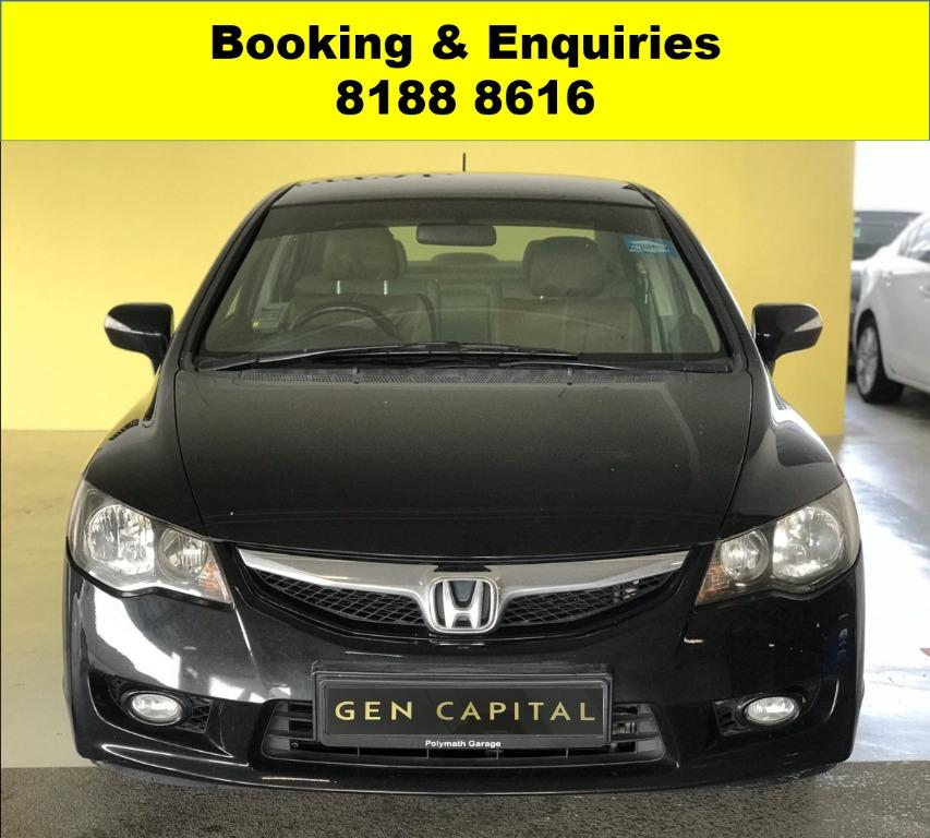 Honda Civic Hybrid HAPPY SUNDAE!! 50% OFF CIRCUIT BREAKER, No Contract Required just a weeks notice upon returning of vehicle, Travel with a peace of mind with just $500 deposit driveaway. Whatsapp 8188 8616 now to enjoy special rates!!