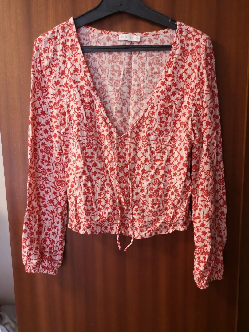Kookai patterned blouse