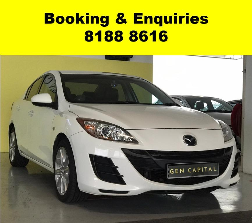 Mazda 3 50% OFF CIRCUIT BREAKER, Travel with a peace of mind with just $500 deposit driveaway. Whatsapp 8188 8616 now to enjoy special rates!!