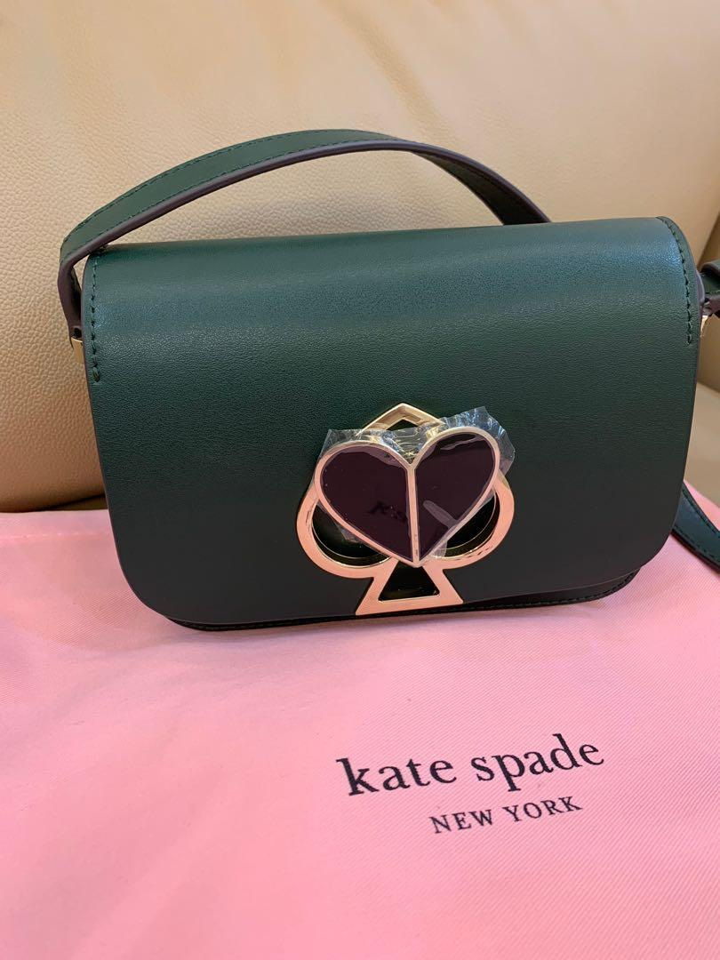 Ready Stock authentic Kate spade women camera bag sling bag crossbody handbag in green Raya unit