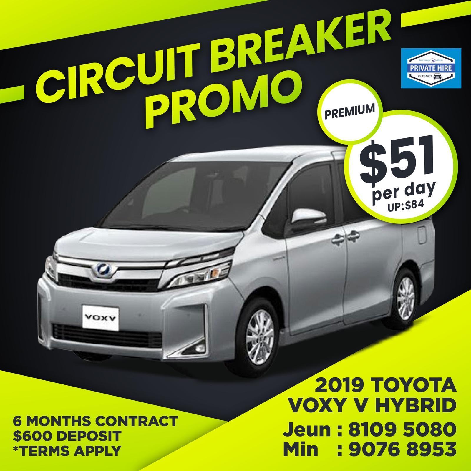40% OFF - Toyota Voxy V Hybrid                          ( Grab / PHV Car Rental )