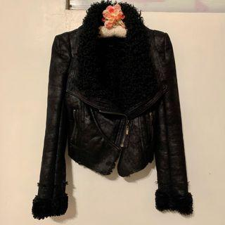 羔羊麂皮合身外套