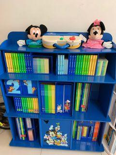 迪士尼美語世界全套連書架  Disney World of English Whole Set including bookshelf