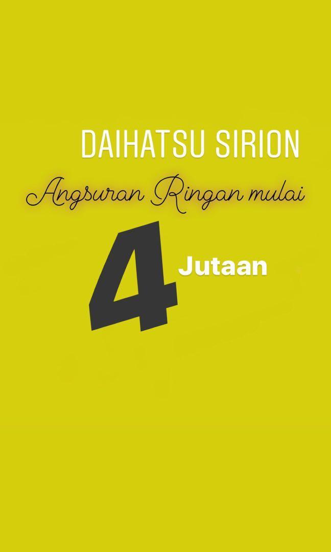 ANGSURAN RINGAN NEW Daihatsu Sirion mulai 4 jutaan. Daihatsu Fatmawati