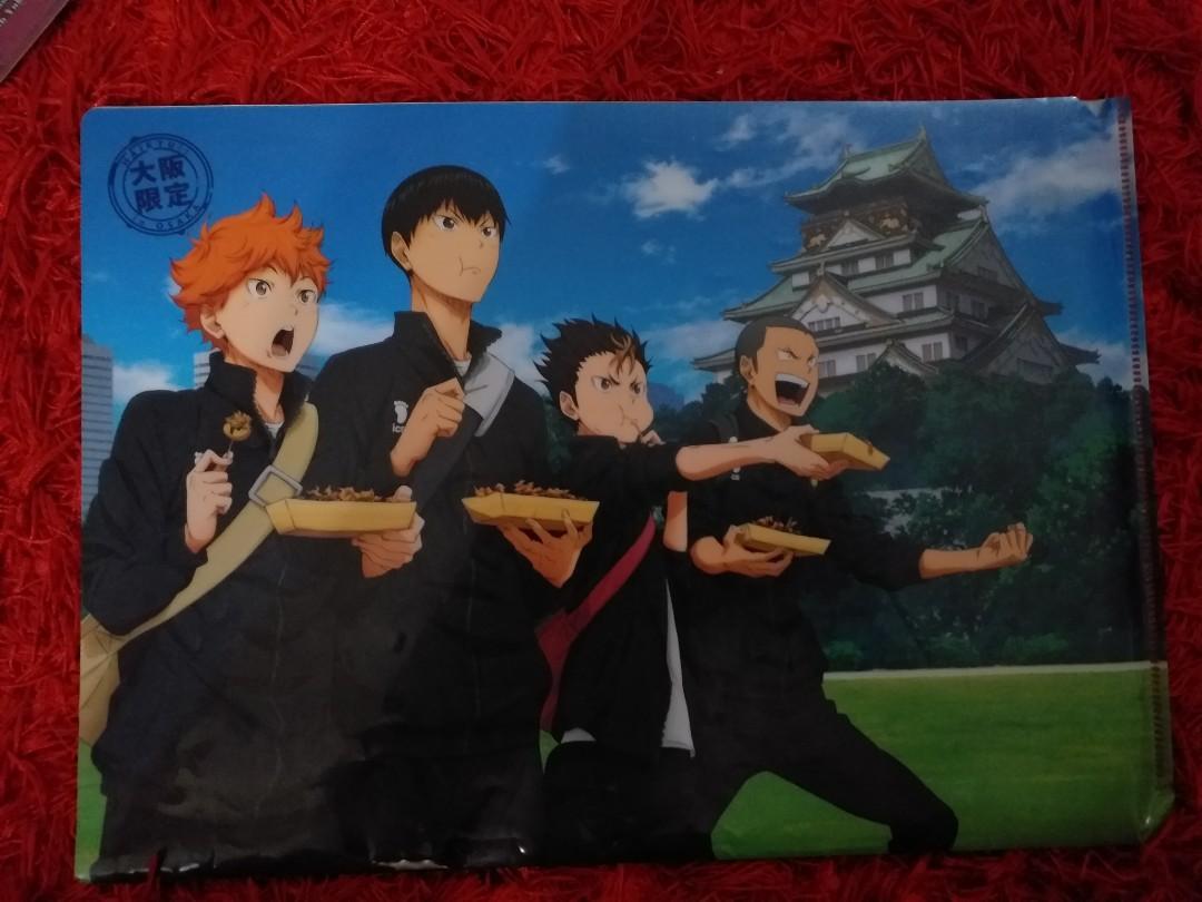 Anime Merchandise File/Wall Poster (Haikyuu/Ouran Highschool Host Club/Wolf Girl Black Prince)