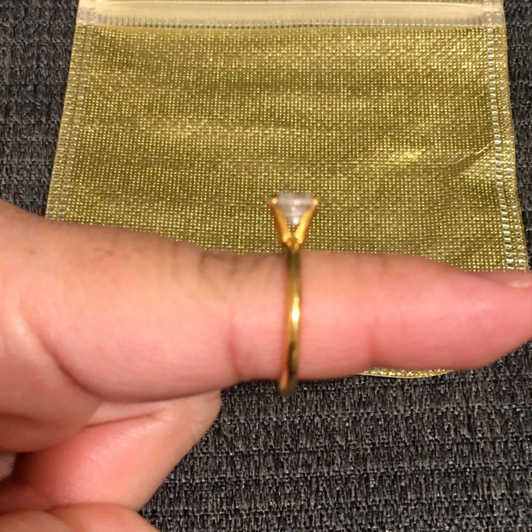 Brand new Joseph Esposito 14kt gold plated ring sz 6