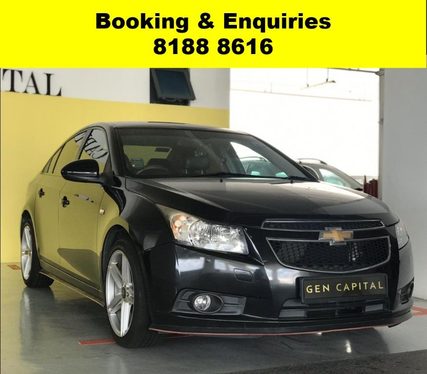 Chevrolet Cruze 50% OFF CIRCUIT BREAKER, No Contract Required just a weeks notice upon returning of vehicle, Travel with a peace of mind with just $500 deposit driveaway. Whatsapp 8188 8616 now to enjoy special rates!!