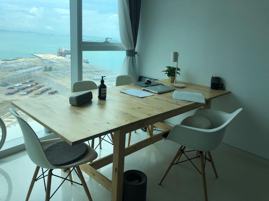 Dining Table Dining Set Ikea Norden Extendable Table Furniture Tables Chairs On Carousell