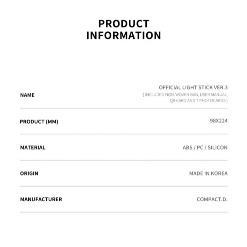 <PO> BTS OFFICIAL LIGHT STICK MAP OF THE SOUL SPECIAL EDITION / OFFICIAL LIGHT STICK  VER.3 (ARMY BOMB)