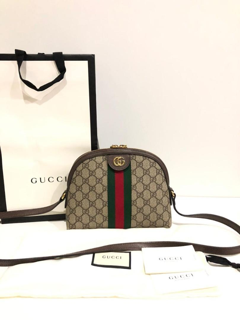 Preloved Gucci Ophidia Half Moon Monogram 2019  Comes with dustbag, strap, booklet, cards and paperbag