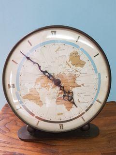 Vintage Retro 1965 Kundo Kieninger & Obergfell World Mantle Clock West Germany