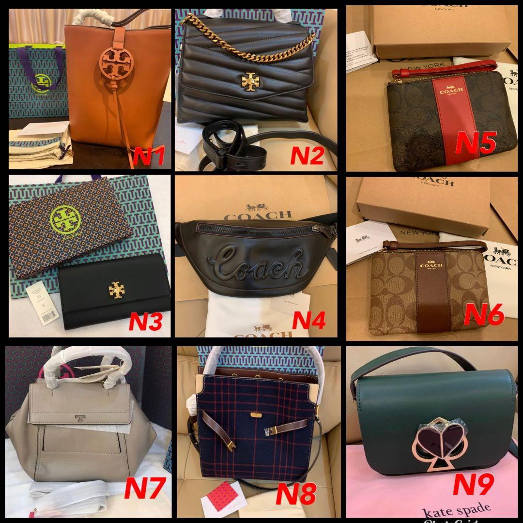 (15/04/20)Reasy Stock authentic coach women wallet purse clutch sling bag Tory Burch backpack woc clutch sling bag Marc Jacobs wallet camera bag coach belt chest bag backpack lanyard card holder purse