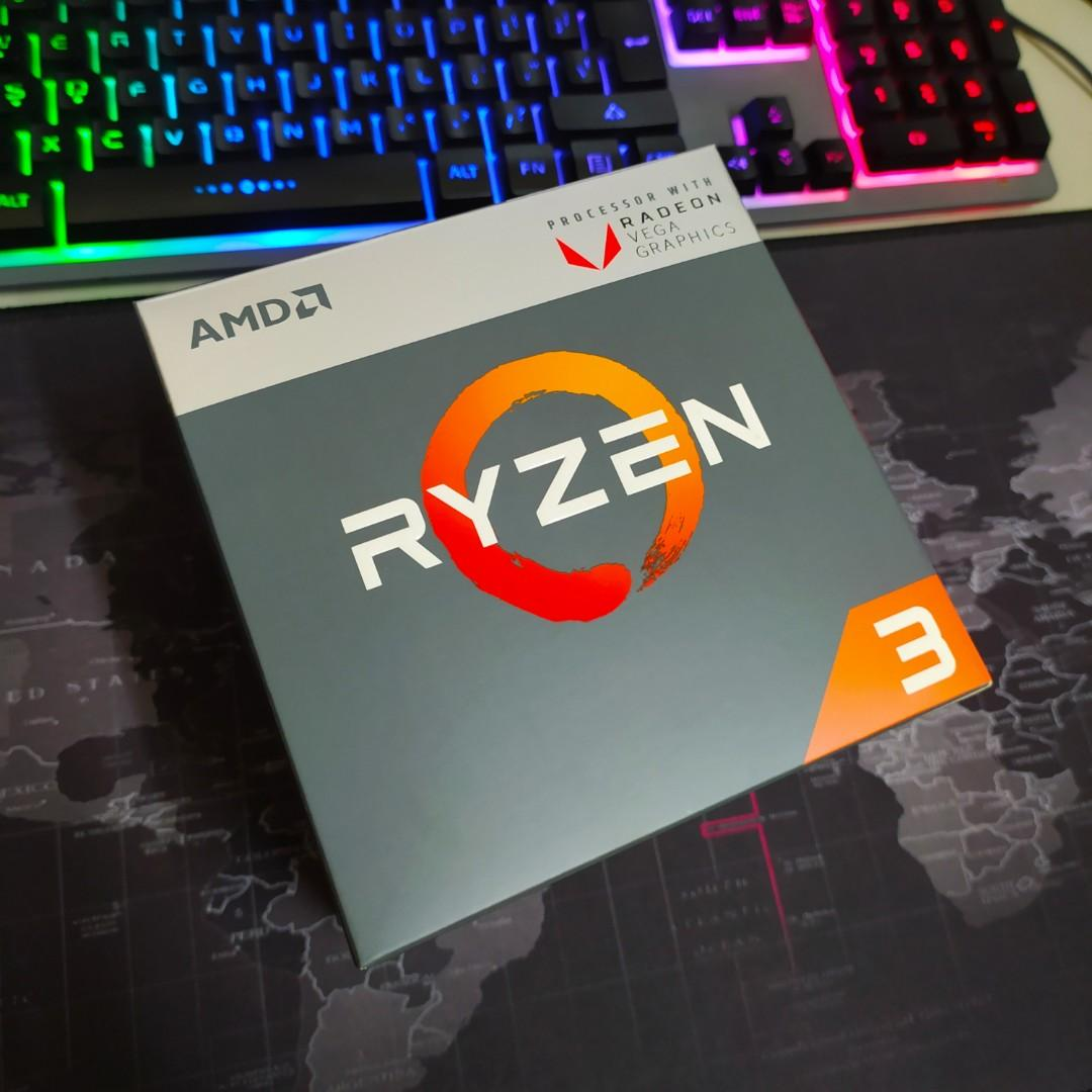 Amd Ryzen 3 2200g Prosessor With Radeon Vega 8 Graphics Gpu Electronics Computer Parts Accessories On Carousell