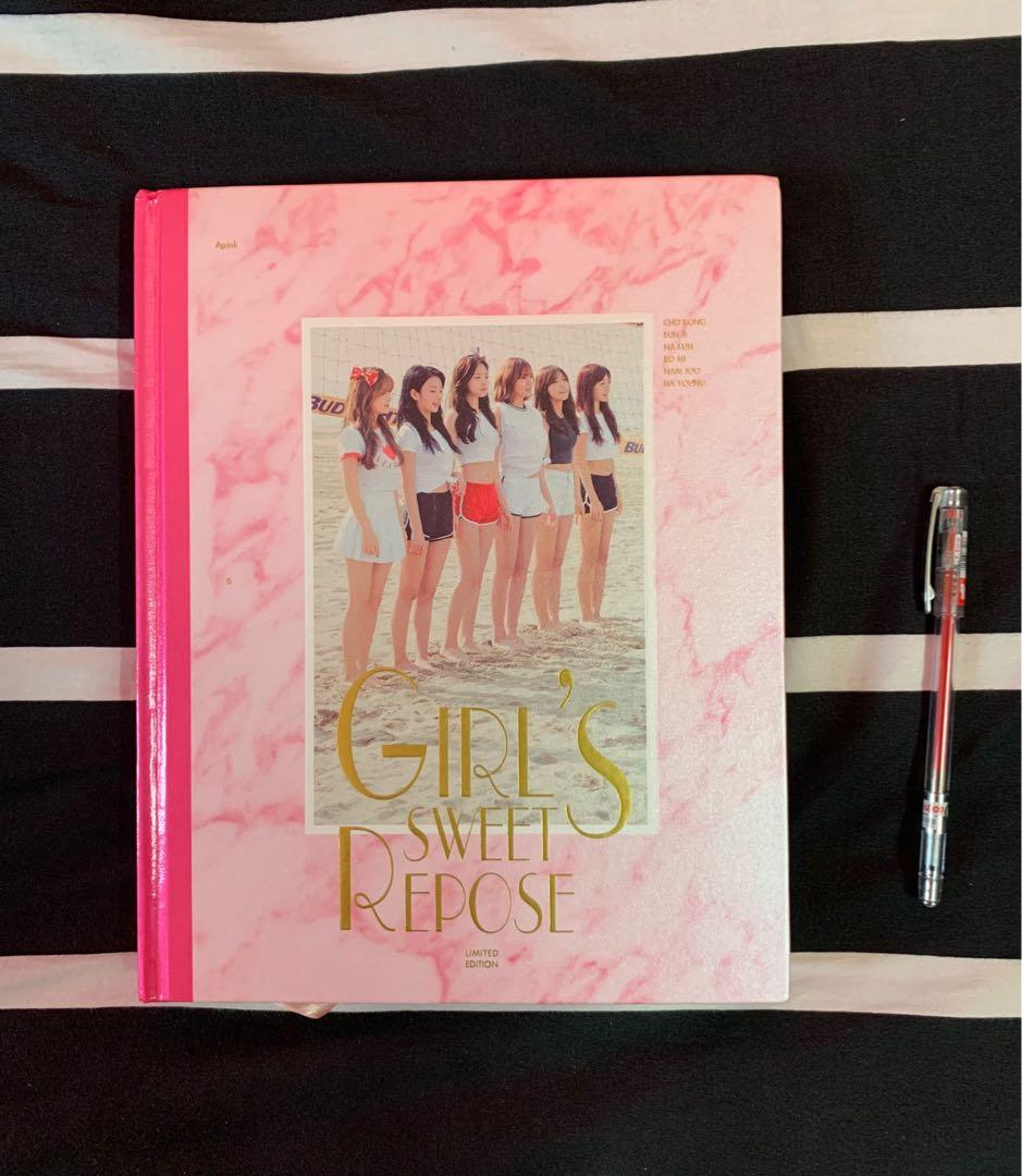 Apink 1st Photobook Girl's Sweet Repose (Photobook + DVD)