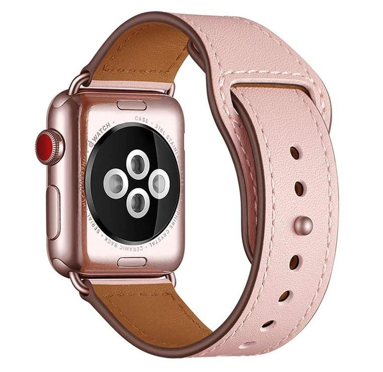AWESOME DEAL!! Premium 100% Genuine Leather Band for Apple Watch 38/40mm (Pink)