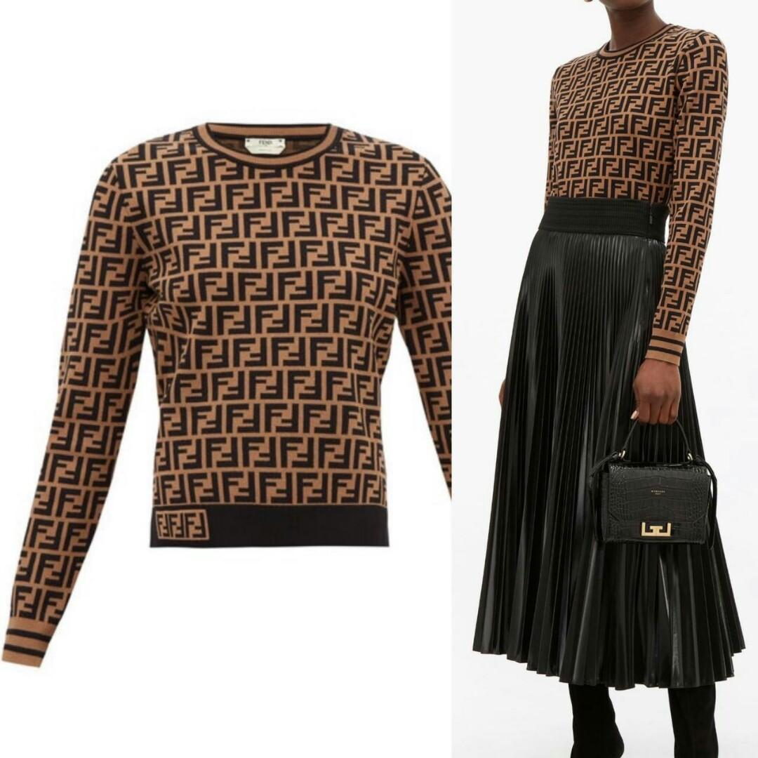Coming Fendi sweater long sleeves FF logo Sz 40 (LD 88-90cm) Sz 42 (LD 92-94cm)