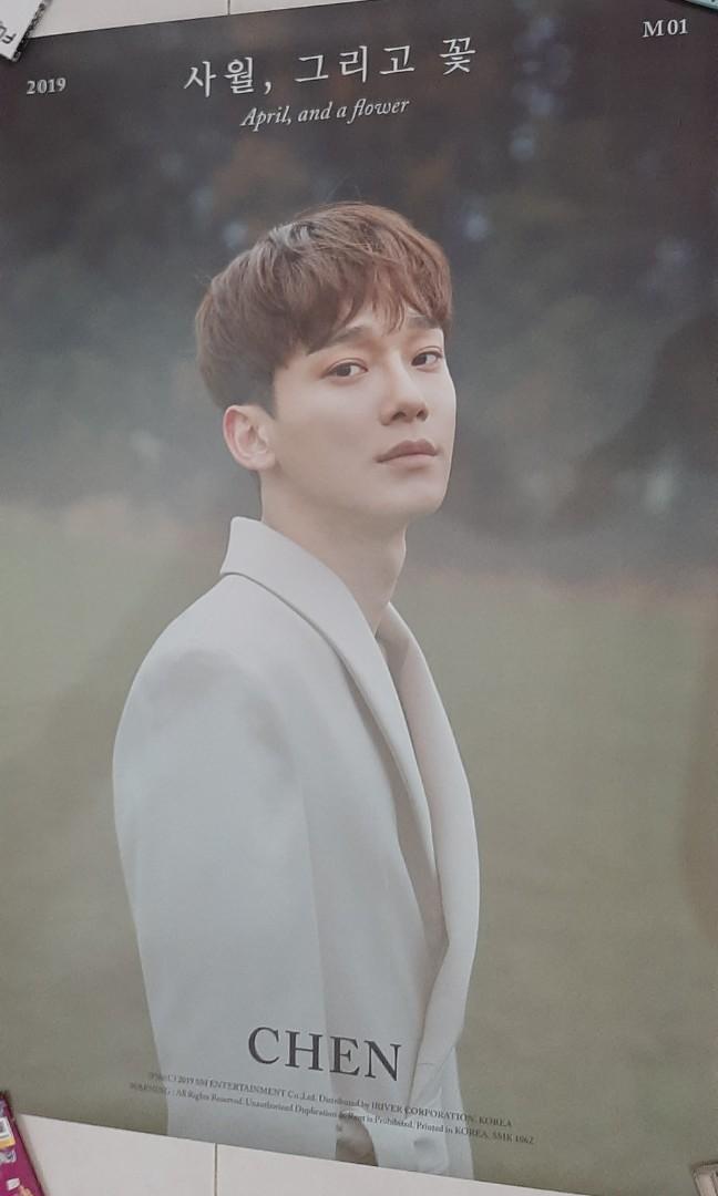 EXO CHEN - APRIL & A FLOWER OFFICIAL POSTER (APRIL VER)