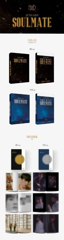 (Include EMS and local postage) H&D 1ST MINI ALBUM [SOULMATE]