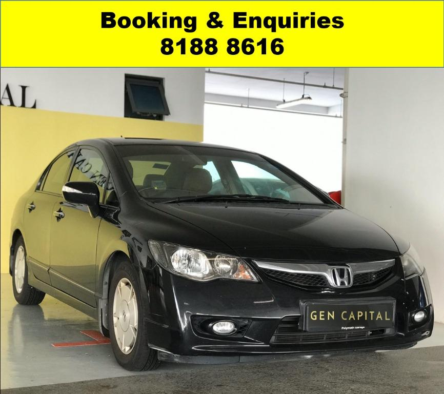 Honda Civic Hybrid HAPPY TUESDAY! BEST THING COMES IN PAIR!! 2 FOR THE PRICE OF 1!! Hurry get your friends/relatives to travel with a peace of mind with just $500 deposit driveaway. Whatsapp 8188 8616 now to enjoy special rates!!