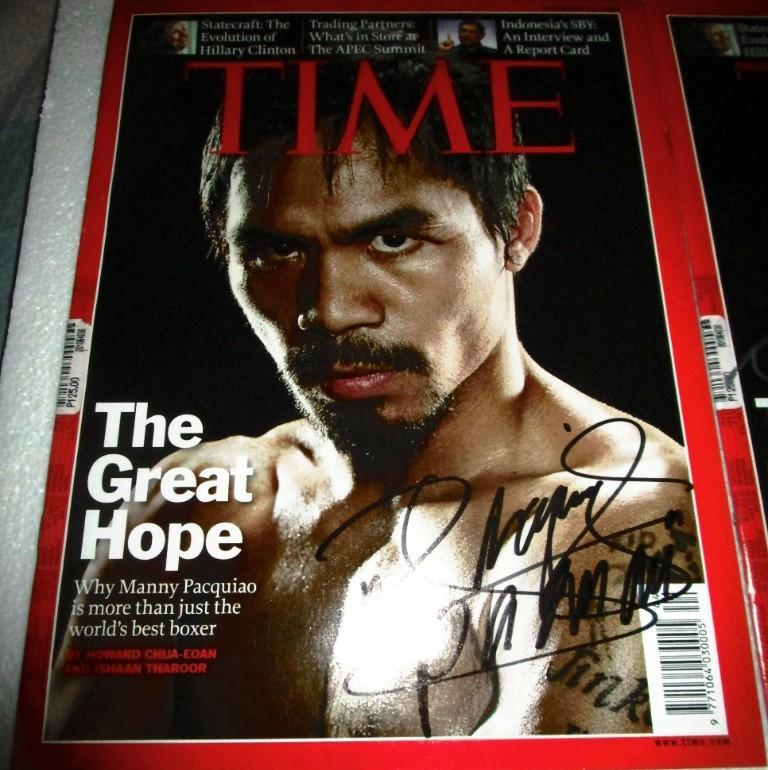 Manny Pacquiao Time magazine black ink  authentic signature COA + PHOTO SIGNING