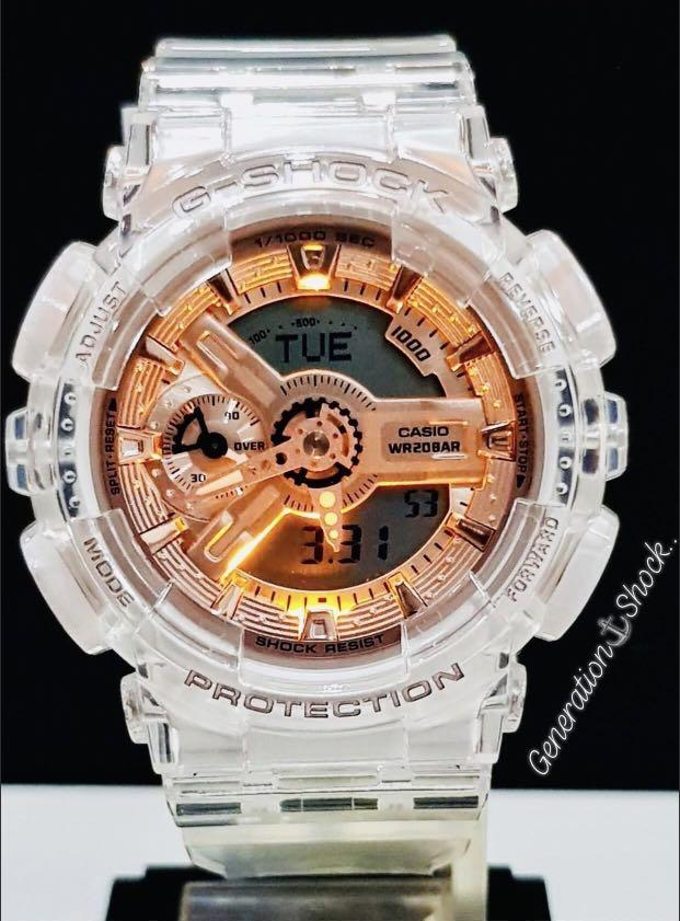 NEW🌟GSHOCK SKELETON UNISEX DIVER SPORTS WATCH : 100% ORIGINAL AUTHENTIC CASIO BABY-G-SHOCK ( BABYG ) : GMA-S110SR-7A / GMAS110SR-7A