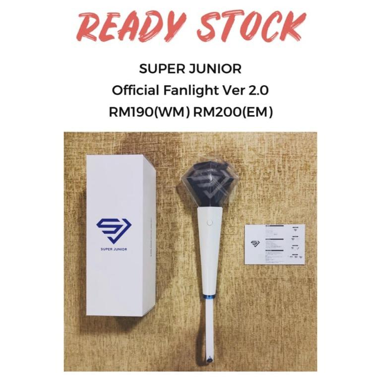 [READY STOCK] SUPER JUNIOR OFFICIAL FANLIGHT VER 2.0 第二代官方应援灯