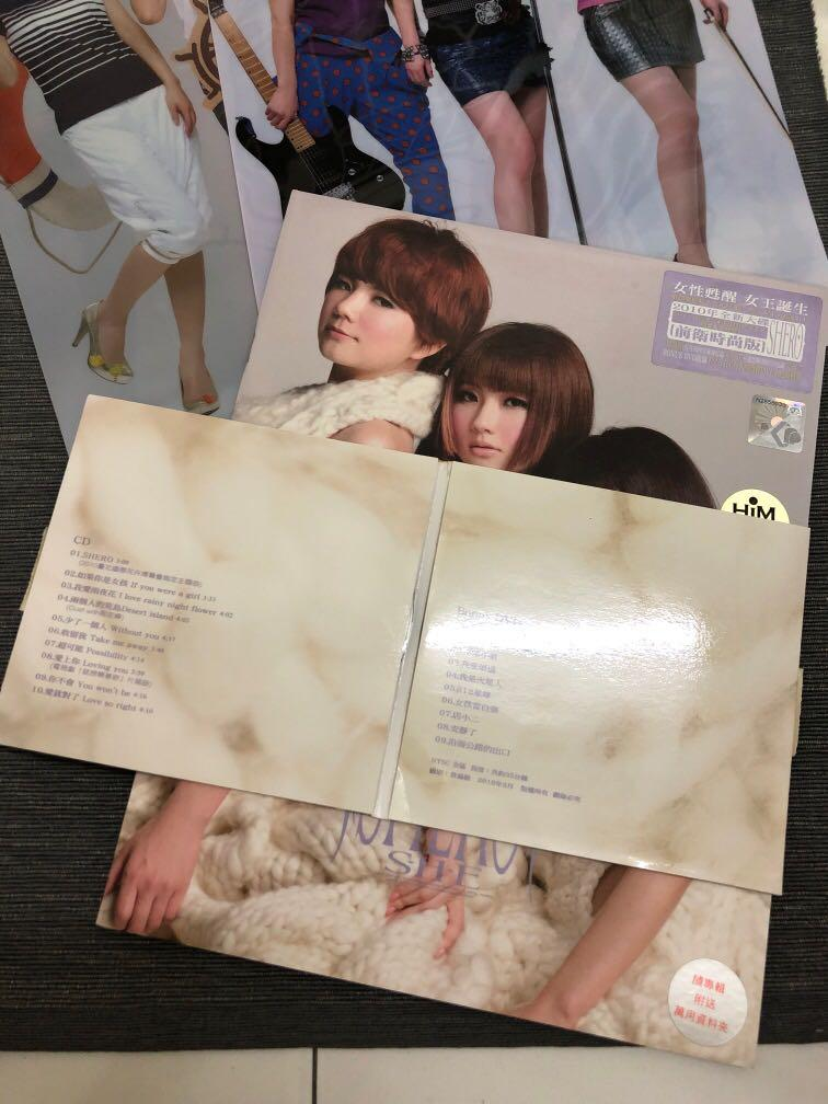 SHE S.H.E. Selina Ella Hebe CD with folder SHERO 2010 绝版