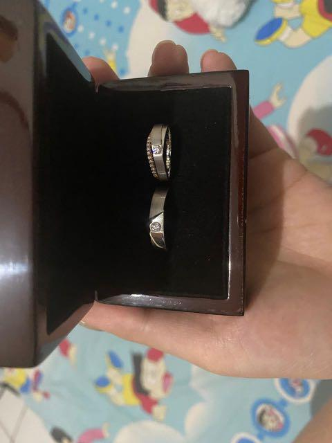 WHITE GOLD WEDDING RINGS (BERLIAN GARANSI SEIMUR HIDUP) *read the details below*