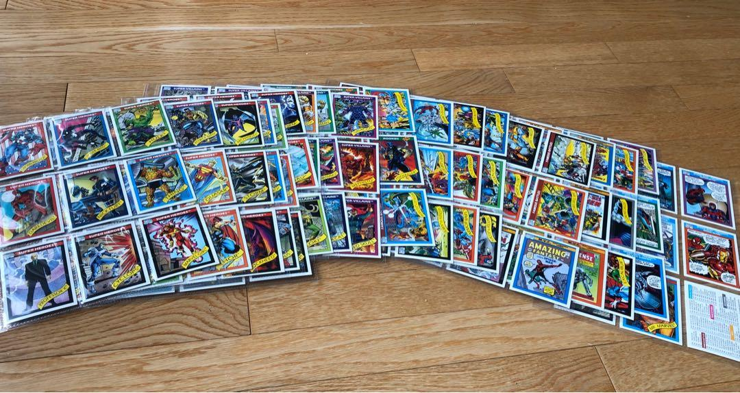 1991 Impel Marvel Super Hero Card Collection (1-162)