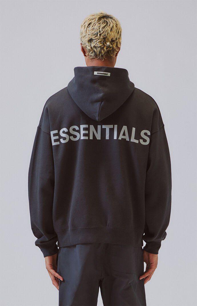 BNWT FEAR OF GOD ESSENTIALS - 3M Logo Pullover Hoodie Black