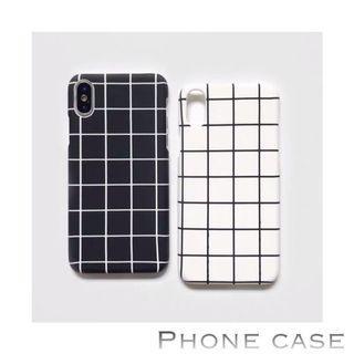 iPhone Case ~ Classic black & white check / stripe