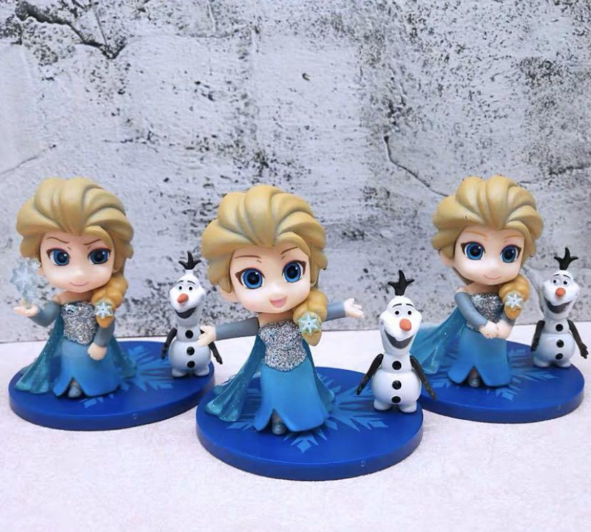 Fantastic New 3Pcs 8Cm Frozen Elsa Birthday Cake Topper Decoration Toys Funny Birthday Cards Online Unhofree Goldxyz