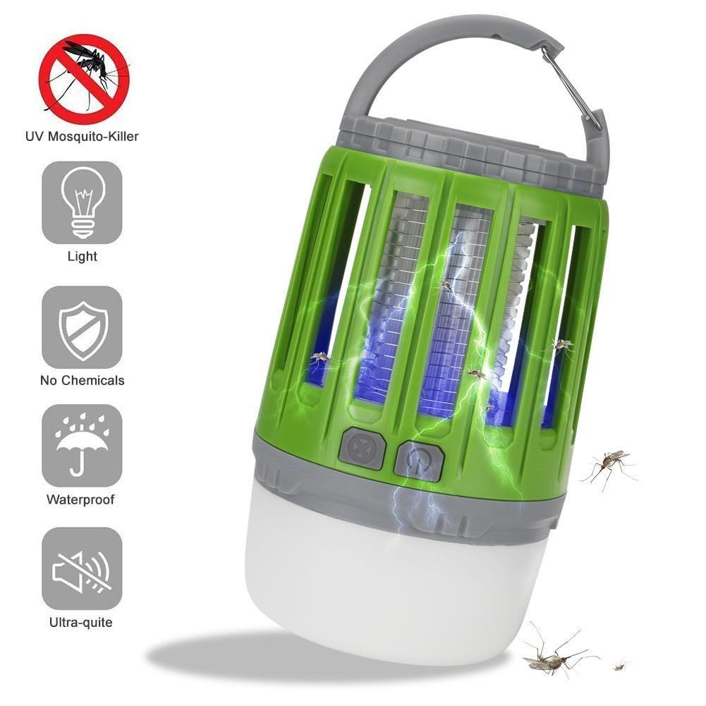 2-in-1 Outdoor USB - Rechargeable Waterproof  Mosquito Killer Lamp