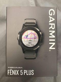 全新 100% New Garmin Fenix 5 Plus Sapphire 藍寶石 鈦金屬版中英文版 黑色010-01988-85香港行貨 運動腕錶 gps錶