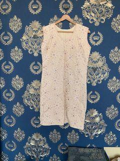 🉐 《老時光》印度古著 絕美雕花刺繡洋裝 💙💙💙💙💙💙💙