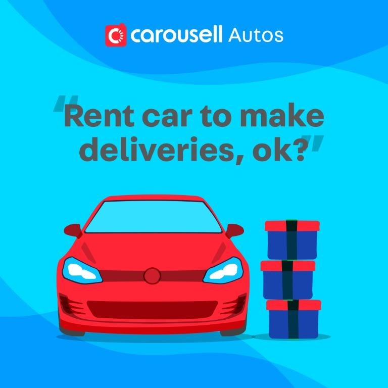 Can I rent a car and make deliveries during this period?