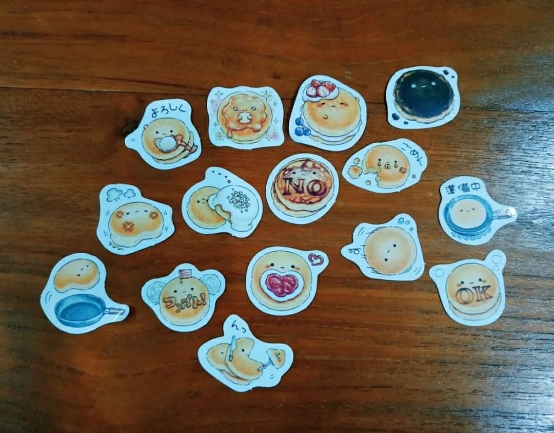 Cute pancake sticker flakes