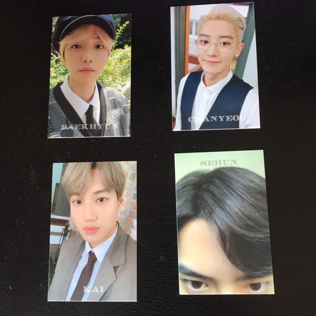 EXO SEASON GREETING 2020 FORTUNE CARDS/ PHOTOCARDS