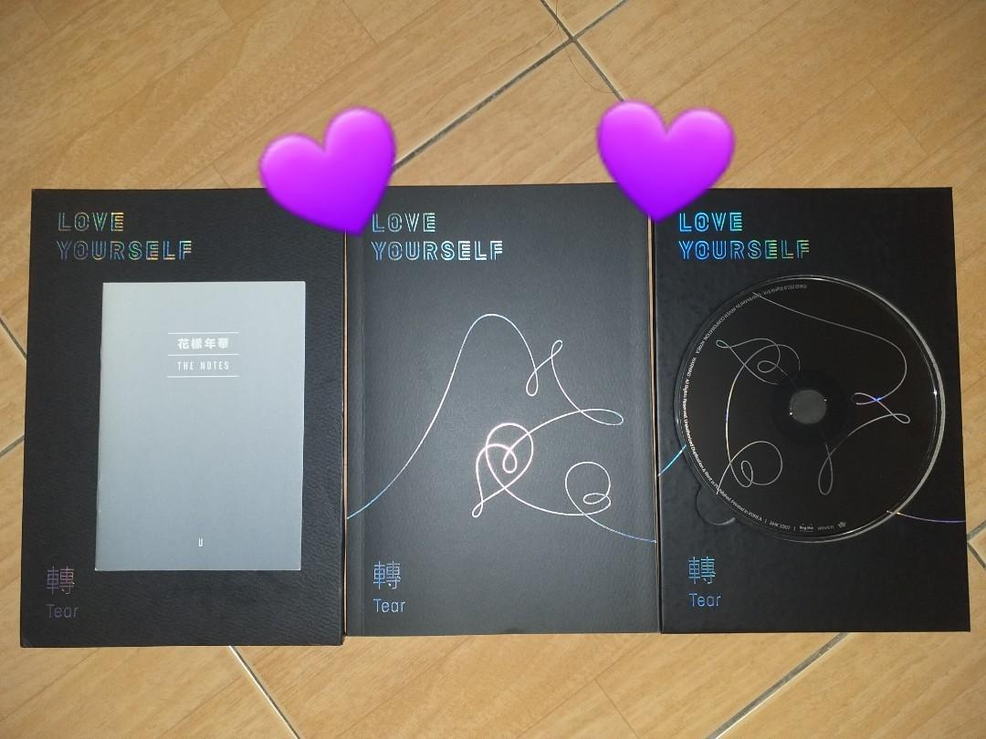 [FAST SELL] BTS LOVE YOURSELF ALBUM : TEAR轉 UNSEALED