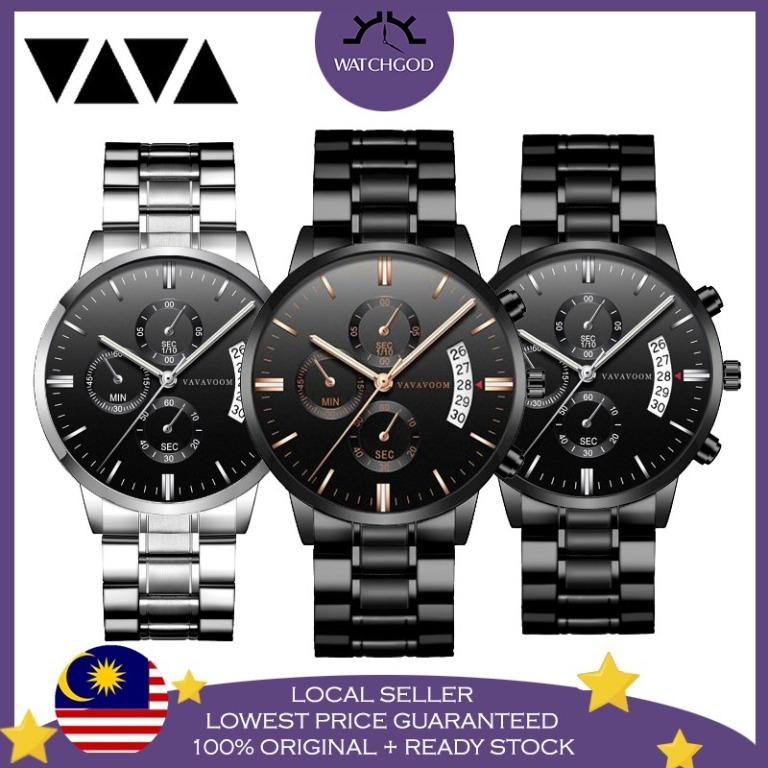 Free Shipping Luxury Business Stainless Steel Quartz Fashion Men Watch Jam Tangan Lelaki
