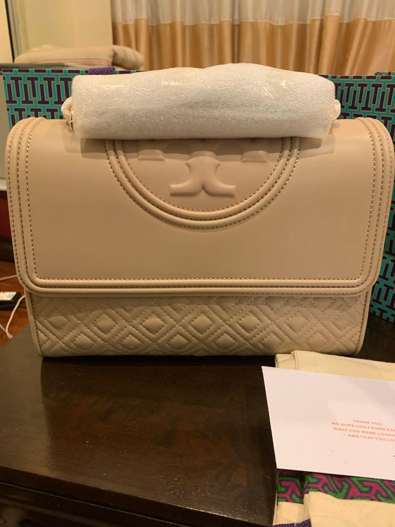 Ready Stock Authentic Tory Burch Fleming bedrock colour convertibles sling bag